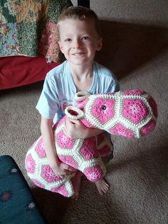 Happypotamous the Happy Hippo (pattern: http://www.ravelry.com/patterns/library/happypotamus-the-happy-hippo-crochet-pattern)