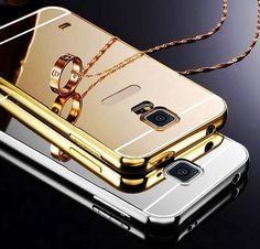 Fashion Luxury Rose Gold Mirror Phone Cases For Samsung Galaxy S5 mini G800 Alumimum Metal Frame shell Back Cover For S5 Mini