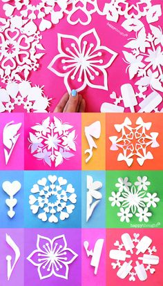 Make these gorgeous DIY snowflakes today! - - Free to members - 12 templates to craft these pretty DIY six-pointed paper snowflakes for St Valentine's Day Paper Snowflake Template, Paper Snowflake Patterns, Snowflake Craft, Diy Snowflakes, Simple Snowflake, Snowflake Origami, Snowflake Cutouts, Paper Cutting Patterns, Heart Template