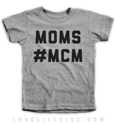 Moms #MCM White Shirts are 100% Cotton. Heather Grey Shirts are 90% Cotton, 10% Polyester. All Shirts are printed in the USA.