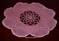 Rose Pink Evening Primrose Bloom Filet Crochet Art Decor by RSS Designs In Fiber @rssdesignsfiber #bmecountdown