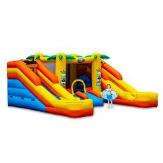 Rainforest Rapids Commercial Combo by Blast Zone - Bounce Houses Now Commercial Water Slides, Bounce House Rentals, Bouncy Castle, Under The Sea, Things That Bounce, Baby Boy, Bounce Houses, Fun, Kids