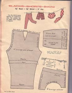 Free Fashion Doll Clothes Pattern - Slacks, Shorts & Bikini