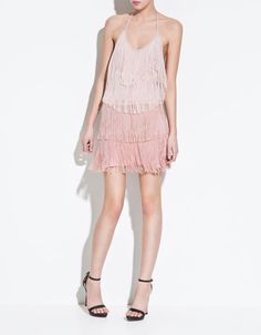 Can someone please have a Gatsby party so I can wear this! FRINGED DRESS - Dresses - TRF - ZARA