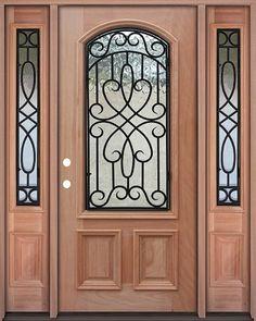 Palermo Fiberglass Door Prehung Tempered Glass Double