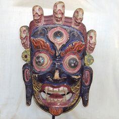 tibetan masks   ... Tibetan and Nepalese Masks - Early 20th Century Dharmapala Mask, Tibet