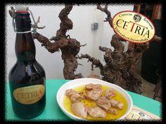 Deliciosas pechugas de perdiz con Cerveza Artesana CETRIA Belgian