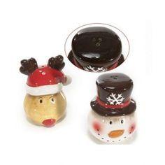 Set sare si piper modele iarna, din ceramica. Dimensiuni 6,3 x 5,2 x 8 H cm. - livrare gratuita la comenzi de peste 300 lei si drept de retur garantat Pudding, Desserts, Food, Tailgate Desserts, Deserts, Custard Pudding, Essen, Puddings, Postres