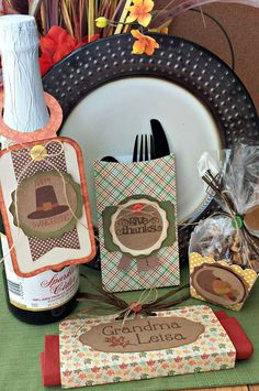 Thanksgiving & Fall Harvest Table Decor by Tya Smith using cutting files designed by Lori Whitlock.
