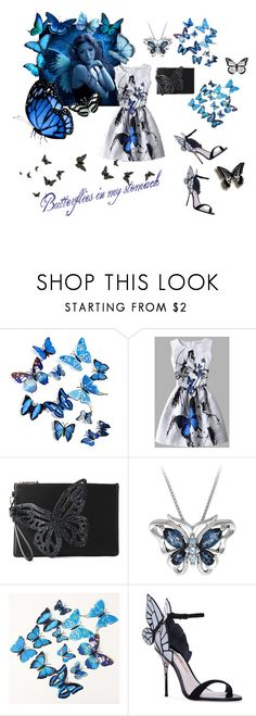 """""""Butterflies in my stomach"""" by katymaybepsycho ❤ liked on Polyvore featuring WithChic, Sophia Webster and Disney"""