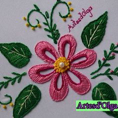 Bordado: Flor Puntada Ojal In this video I show you how to embroider a flower in buttonhole stitch. Hand Embroidery Videos, Embroidery Hoop Crafts, Embroidery Stitches Tutorial, Embroidery Flowers Pattern, Creative Embroidery, Simple Embroidery, Learn Embroidery, Hand Embroidery Designs, Crewel Embroidery