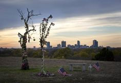 """The dead """"Homeless Christmas Tree,"""" left, has been joined by another tree. Across The Border, Dec 8, I Luv U, Fort Worth, Tuesday, Christmas Tree, Culture, Teaching, Teal Christmas Tree"""