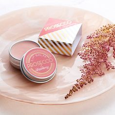 Prosecco And Strawberry Lip Balm Gift. A gorgeous Prosecco & Strawberry flavoured natural lip balm in a handy 15ml tin.