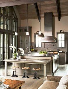 Rustic Kitchen Design in USA