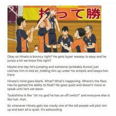 best headcanon ever Haikyuu! Haikyuu Funny, Haikyuu Fanart, Haikyuu Ships, Hinata Shouyou, Kagehina, Kuroo, Haikyuu Volleyball, Volleyball Anime, A Silent Voice