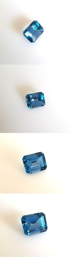 Topaz 10270: 6.95Ct. Emerald Cut Genuine (Natural) London Blue Topaz ( 12X10mm) Loose Stone -> BUY IT NOW ONLY: $69 on eBay!