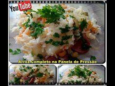 arroz completo na pressão