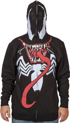 Marvel Venom Full Zip Mask Hoodie