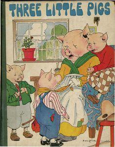¤ by Eulalie THREE LITTLE PIGS. NY: Platt & Munk, (1925)
