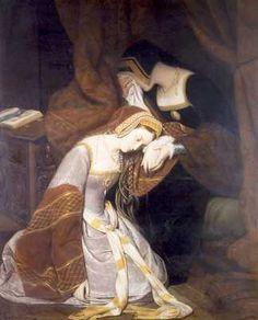 Anne Boleyn before her execution.