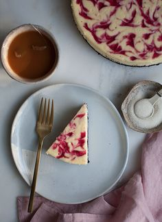 Marbled Cranberry Cheesecake   www.acozykitchen.com