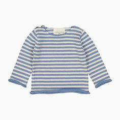 baby axel pull (cream and blue stripes)