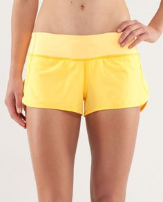 aaaaand i need these lulus RUN:Speed Short Lululemon Speed Shorts, Yellow Shorts, Athletic Outfits, Hot Pants, Gym Shorts Womens, Heart Attack, Running, Bedtime, Tennis