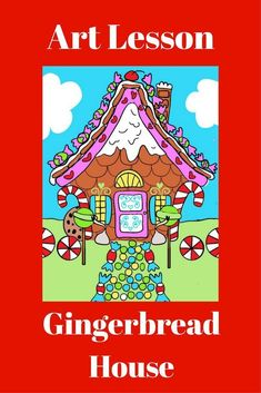 Great to use at Christmas time. Elementary art teachers, classroom teachers and art subs would love this. Fairy tales center, art sub lesson, early finishers station. Versatile and fun for kids. Draw a Gingerbread House activity is based on Hansel and Gr Elementary Drawing, Elementary Art Lesson Plans, Winter Art Projects, Easy Art Projects, First Grade Art, Third Grade, Fourth Grade, Art Sub Plans, Hansel Y Gretel