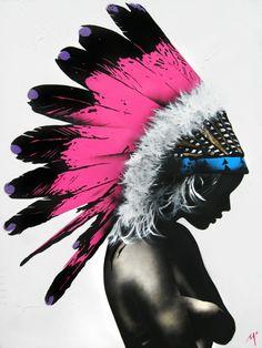 Australian Art on The Life Creative Matt Stewart Indian Girl Art
