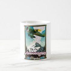 #Aconcagua -Argentina vintage flight poster print. Coffee Mug - #drinkware #cool #special