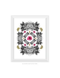 Floral Composition N1 8.5x11. Fine Art by MilesOfLight on Etsy