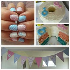 Baby Shower nails by Miss Bliss Nails and Education Christchurch