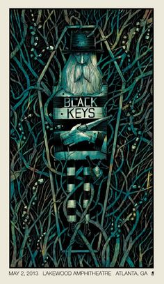 30 Ideas Music Poster Art Illustration The Black Keys Tour Posters, Band Posters, Retro Posters, Design Posters, Art Hippie, Music Artwork, The Black Keys, Art Graphique, Concert Posters