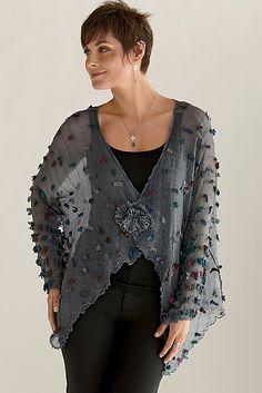 Pezzo Jacket by Deborah Murphy. Hand-dyed, multi-hued
