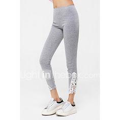 De las mujeres Pantalones Ajustado - Bonito / Bodycon Microelástico - Poliéster 2017 - $5.99