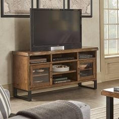 Banyan Live Edge Wood and Metal TV Stand Media Console by SIGNAL HILLS - Free Shipping Today - Overstock.com - 20422550 - Mobile