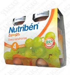 NUTRIBEN ZUMO UVA Y ZANAHORIAS 130 ML 2 UNIDADES BIPACK