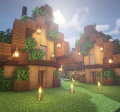Small house design inspired by GoodTimesWithScar's HermitCraft base! Minecraft Small House, Modern Minecraft Houses, Minecraft House Plans, Minecraft Farm, Minecraft Mansion, Minecraft Houses Survival, Minecraft Cottage, Minecraft House Designs, Minecraft Architecture