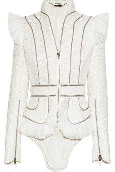 Alexander Mcqueen tweed jacket, love the tailcoat!