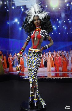 Ninimomo's Barbie. Африка/Africa. 2009/2010  inspiration, feather in hair