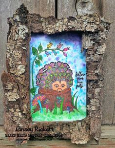 for Mixed Media Monthly Challenge Blog - challenge #41 with Rubber Dance Stamps