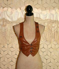 Vegan Faux Leather Vest Steampunk Vest