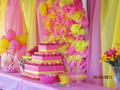 Yellow/Pink themed Hello Kitty Party