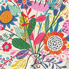 by helen dardik Surface Pattern Design, Pattern Art, Floral Illustrations, Illustrations Posters, Textile Patterns, Print Patterns, Posca, Pattern Illustration, Pattern Wallpaper