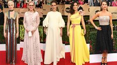The biggest fashion trends on the red carpet-From bold brights to wonderful whites, we take a look at the biggest trends to grace the SAG awards red carpet
