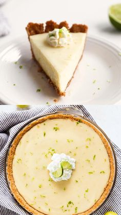 Homemade Desserts, Easy Desserts, Delicious Desserts, Yummy Food, Key Lime Desserts, Summer Dessert Recipes, Easter Recipes, Classic Key Lime Pie Recipe, Key Lime Pie With Cream Cheese Recipe