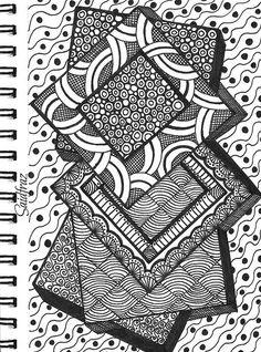 Saidfraz zentangle in 2019 Painting & Drawing, Doodle Art Drawing, Zentangle Drawings, Mandala Drawing, Zentangles, Doodling Art, Watercolor Painting, Easy Doodle Art, Doodle Art Designs