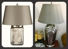 tutorial for mercury glass painting on old lamp