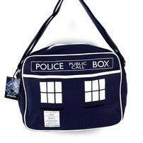 Dr Who Tardis 50th Anniversary Retro Messenger Bag