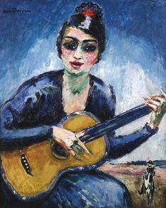 Kees van Dongen, La femme à la guitare